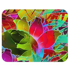 Floral Abstract 1 Double Sided Flano Blanket (Medium)