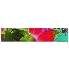 Floral Abstract 1 Flano Scarf (Small)