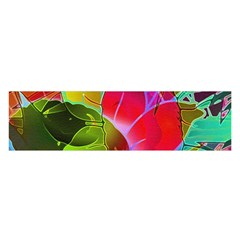 Floral Abstract 1 Satin Scarf (oblong)