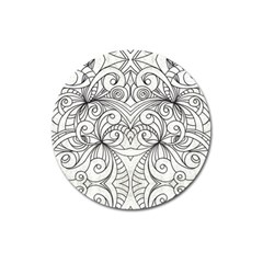 Drawing Floral Doodle 1 Magnet 3  (Round)