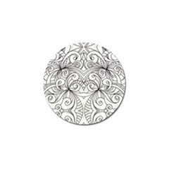 Drawing Floral Doodle 1 Golf Ball Marker (10 pack)