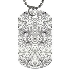 Drawing Floral Doodle 1 Dog Tag (Two Sides)