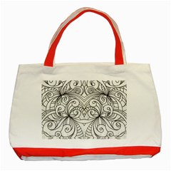 Drawing Floral Doodle 1 Classic Tote Bag (Red)