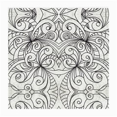 Drawing Floral Doodle 1 Medium Glasses Cloth (2-Side)