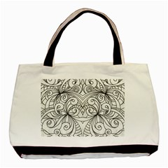 Drawing Floral Doodle 1 Basic Tote Bag (Two Sides)