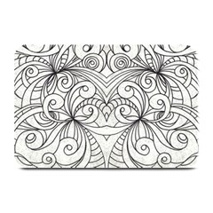 Drawing Floral Doodle 1 Plate Mats