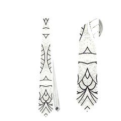 Drawing Floral Doodle 1 Neckties (Two Side)