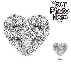 Drawing Floral Doodle 1 Multi Purpose Cards (heart)