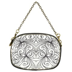 Drawing Floral Doodle 1 Chain Purses (Two Sides)