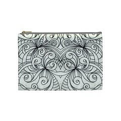 Drawing Floral Doodle 1 Cosmetic Bag (Medium)