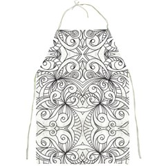 Drawing Floral Doodle 1 Full Print Aprons