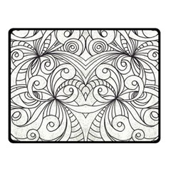 Drawing Floral Doodle 1 Fleece Blanket (Small)