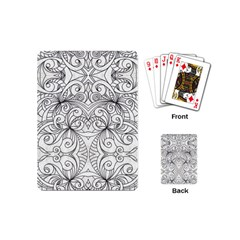 Drawing Floral Doodle 1 Playing Cards (Mini)