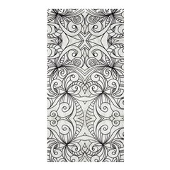 Drawing Floral Doodle 1 Shower Curtain 36  X 72  (stall)