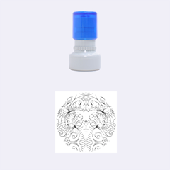 Drawing Floral Doodle 1 Rubber Round Stamps (Small)