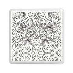Drawing Floral Doodle 1 Memory Card Reader (square)