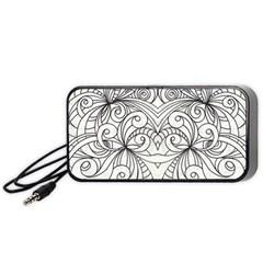 Drawing Floral Doodle 1 Portable Speaker (Black)