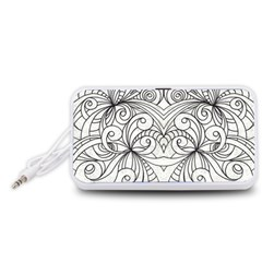 Drawing Floral Doodle 1 Portable Speaker (White)