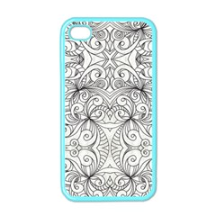 Drawing Floral Doodle 1 Apple iPhone 4 Case (Color)