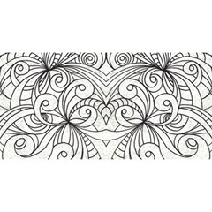Drawing Floral Doodle 1 You Are Invited 3d Greeting Card (8x4)