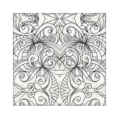 Drawing Floral Doodle 1 Acrylic Tangram Puzzle (6  x 6 )