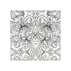 Drawing Floral Doodle 1 Acrylic Tangram Puzzle (4  x 4 )