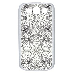 Drawing Floral Doodle 1 Samsung Galaxy S III Case (White)