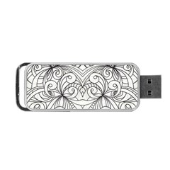 Drawing Floral Doodle 1 Portable Usb Flash (one Side)