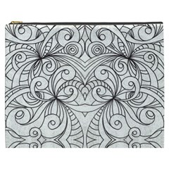 Drawing Floral Doodle 1 Cosmetic Bag (XXXL)