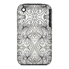 Drawing Floral Doodle 1 Apple iPhone 3G/3GS Hardshell Case (PC+Silicone)