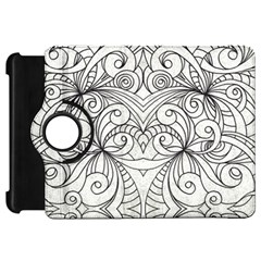 Drawing Floral Doodle 1 Kindle Fire HD Flip 360 Case
