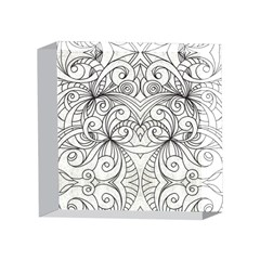 Drawing Floral Doodle 1 4 x 4  Acrylic Photo Blocks