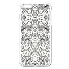 Drawing Floral Doodle 1 Apple Iphone 6 Plus/6s Plus Enamel White Case