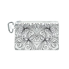 Drawing Floral Doodle 1 Canvas Cosmetic Bag (S)