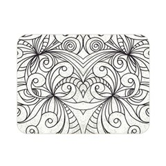 Drawing Floral Doodle 1 Double Sided Flano Blanket (mini)