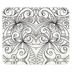 Drawing Floral Doodle 1 Double Sided Flano Blanket (Small)