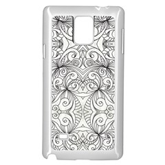 Drawing Floral Doodle 1 Samsung Galaxy Note 4 Case (White)