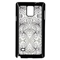 Drawing Floral Doodle 1 Samsung Galaxy Note 4 Case (Black)