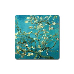 Blossoming Almond Tree Square Magnet
