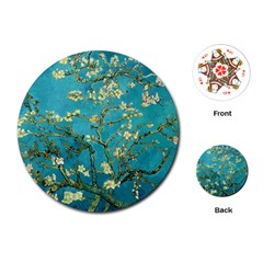 Blossoming Almond Tree Playing Cards (Round)