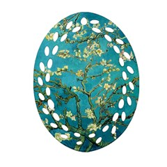 Blossoming Almond Tree Oval Filigree Ornament (2-Side)
