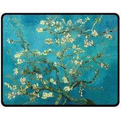 Blossoming Almond Tree Double Sided Fleece Blanket (medium)