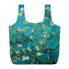 Blossoming Almond Tree Full Print Recycle Bags (l)