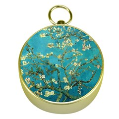 Blossoming Almond Tree Gold Compasses