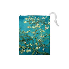Blossoming Almond Tree Drawstring Pouches (Small)