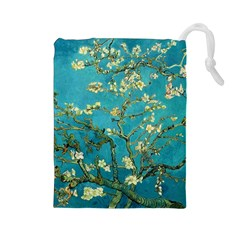 Blossoming Almond Tree Drawstring Pouches (Large)