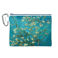 Blossoming Almond Tree Canvas Cosmetic Bag (L)