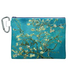 Blossoming Almond Tree Canvas Cosmetic Bag (XL)