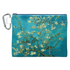 Blossoming Almond Tree Canvas Cosmetic Bag (XXL)