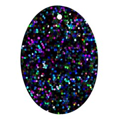 Glitter 1 Oval Ornament (two Sides)